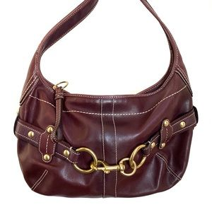 Coach Vintage Leather Shoulder Bag Purse